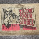 "Welcome To Our Stable Rug - Brown  Size: 18"" Wide X 27"" Long"