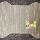 "Grits & Grins Dog Bone Pet Bowl Mat - Gray / Tan Color Size: 19"" Wide X 23"" Long"
