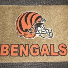 "Cincinnati Bengals Football Helmet Rug - Tan  Size: 17"" Wide X 27"" Long"