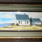 """Cottage By The Sea 3D Framed Artwork Size: 21"""" Wide X 11 1/2"""" Long"""