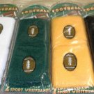 DM Embroidered Football Wristbands Colors: Black, Green, White or Yellow #WR2-FT