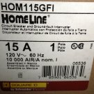 Square D Homeline HOM115GFI 15A 1 Pole 120V 60Hz Circuit Breaker #785901065364