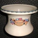 Home & Garden Party Americana Stoneware Pottery Pedestal #99789/#767151997893