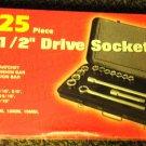 "Ultra Steel 25 Piece 1/2"" Drive SAE & Metric Socket Set #UB06056S"