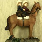 Young's Boy And Girl Riding Horse Sculpture #23294 / #20028