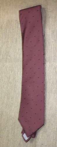 US Air By Anthony Ent. Inc. Mauve With Black Polka Dots Neck Tie