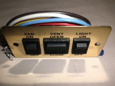 Winnebago Fan On/Off - Vent Open/Closed - Light On/Off Switch #A8948BR