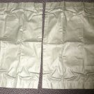 "RV Curtains 1 Pair Color: Green Size: 18 3/4"" Wide X 28 3/8"" Long #639755"