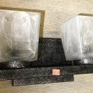 Gustafuson Gray Marble With Double Globe 12V Wall Light Fixture #o06