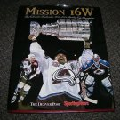 Mission 16W The Colorado Avalanche 2000-2001 Stanley Cup Champions Book