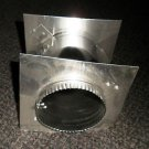 "Metal 4"" In Wall Duct Connector Size: 4"" X 4"" X 6"""