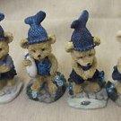 DDW Little Bears W/ Fishing Hat Set 4  #HS20321 UPC:610321203211