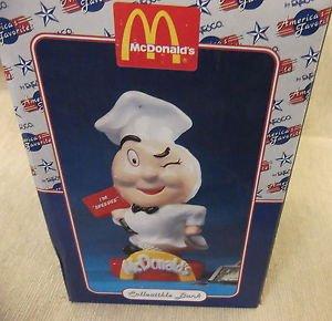 "Enesco McDonald's ""Speedee"" Collectible Bank #790125 UPC:045544681162"