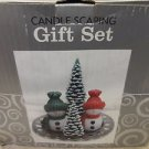 JAS  Snowman Candle Scaping Gift Set #35055 UPC:019319649169