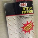 "IIT Red Poly Rope 1/4"" X 72' #48960 UPC: 039593489602"