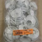 "White Plastic 2 3/8"" Shower Flange For 1 1/16"" Rod  100 Pieces #4007162WSRF100"