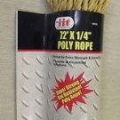"""IIT Yellow Poly Rope 1/4"""" X 72' #48960 UPC: 039593489602"""