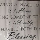"Sentiment Wall Quote ""Having A Place To Go: A Home"" #QUO-BLS UPC:884916417424"