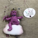 Russ Purrfect Kitty - Pink Fabric Kitty Elements Ornament #22825E-01