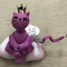 Russ Purrfect Kitty - Pink Fabric Kitty On Cloud Ornament #22827E-01