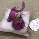 Russ Purrfect Kitty - Pink Fabric Kitty Sleeping Ornament #22818E-01