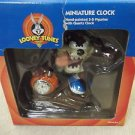 Westclox / Looney Tunes Taz Basketball Miniature Clock #32354 UPC:077413323545