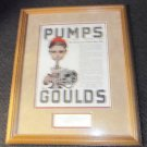 "Gould's Pump Ad Framed Reprint August 14,1920 Size: 18 1/4"" x 22 1/2"""