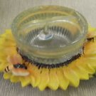 Sunflower / Bee Candle Holder With Gel Candle #TRC-261 UPC:830609001623