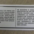 "RV Safety Decal ""Ensure A Supply Of Fresh Air"" Bi-Lingual UPC:710534474177"