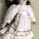 "Brinn's 14 "" Pretty In Pink Musical Porcelain Doll"
