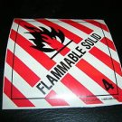 "ULINE Flammable Solid 4 Self Adhesive Decal #S-364 Size: 4"" X 4"" UPC:71053447794"