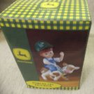Enesco John Deere Boy Riding Calf Porcelain Figurine #892483 UPC:045544042871