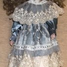 "Mann 16 1/2"" Blue Mondays Porcelain Doll With Doll Stand"