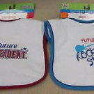 Kids 2 Grow By Danara Boy's Easy Closure Baby Bibs 2 Pack #25073 25074