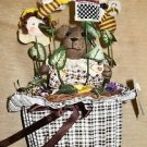 Berkeley Designs Musical Animated Brown Bear In A Basket Centerpiece #600384