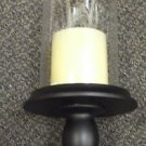 "Flippo Flameless Candle W/ Clear 12"" Hurricane Lamp  #1300 UPC:710534475884"