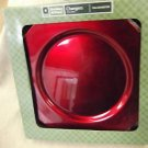 "Holiday Time 13"" Red Charger Plates Set 4 #HD5005610083 UPC:053025100835"