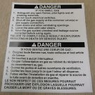 """RV Safety Decal """"Danger If You Smell Gas"""" Bi Lingual UPC:710534474245"""