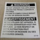 """RV Safety Decal """"Warning Do Not Operate Unless Privacy Curtain"""" UPC:710534473989"""