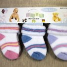 Baby 1st 3 Pairs Baby Socks - Blue, Pink & Lavender Stripes UPC:710534472098