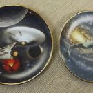 Hamilton Collection Star Trek USS Enterprise & Klingon Starships Mini Plates