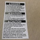 "RV Safety Decal ""Danger:Warning:Caution:"" TL5002 UPC:710534474085"