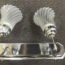 Gustafuson 2 Light 60 Watt 120V Silver Vanity Light W/ Swivel Glass Globes  #472