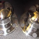 "Wheel Masters 22"" 10 Lug Rear Aluminum Hub Covers 1 Set #228H54-I"