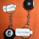 Novelty Inc Black 8 Ball Key Chain Set 2 #KC-0214/S   UPC:710534481755