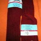 Sterling Girl's Burgundy Knee High Socks Size:8-9 1/2  Pack 2 UPC:710534482431