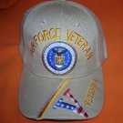 Cap America Tan Air Force Veteran Baseball Cap -  Adjustable  UPC:710534482868