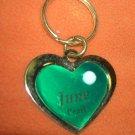 St. Evans Heart / June - Pearl Birthstone Key Chain  UPC:710534484497