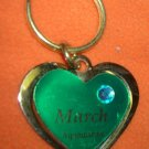 St. Evans Heart / March - Aquamarine Birthstone Key Chain  UPC:710534484466