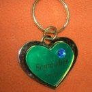 St. Evans Heart / September - Sapphire Birthstone Key Chain  UPC:710534484527